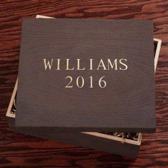 Cool Engraved Wedding Gift Box for Parents