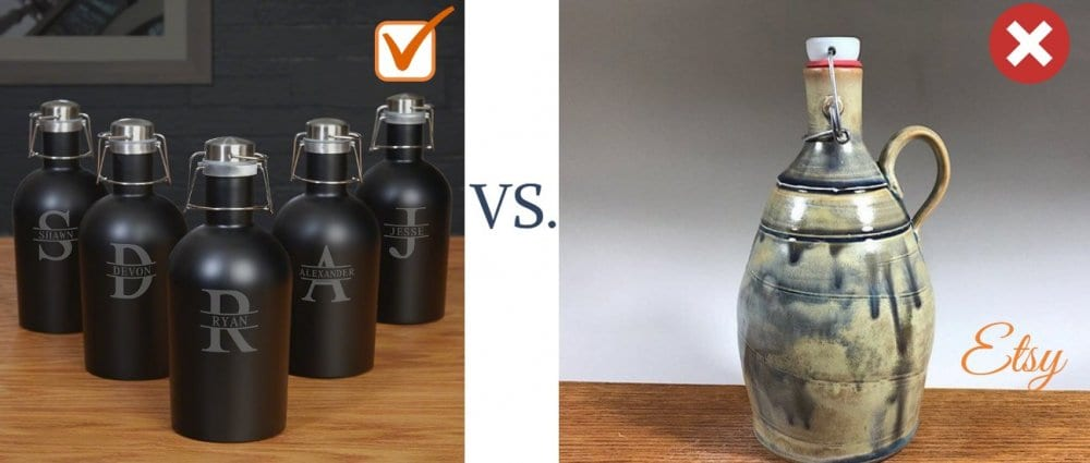 Personalized Etsy Groomsmen Gift Growler Options
