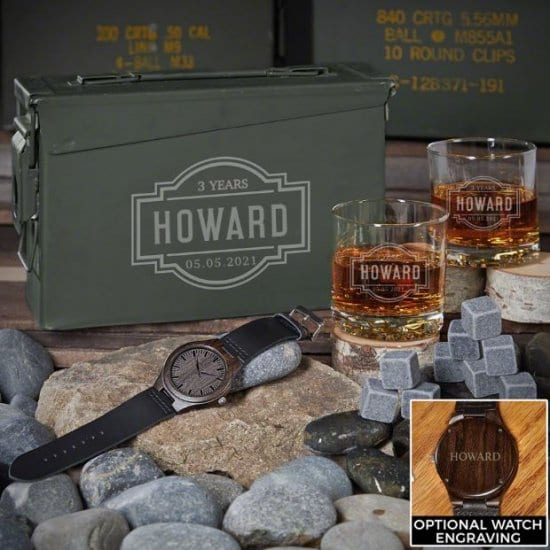 3 Year Anniversary Gift Ideas in an Ammo Can