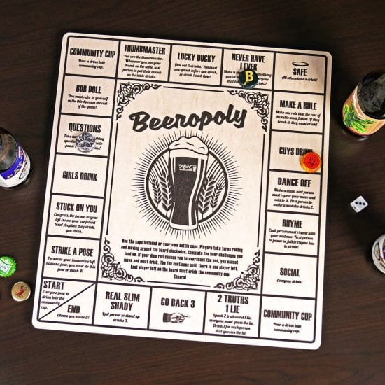 Beeropoly Board A Fun 3 Year Anniversary Gift Idea For Him
