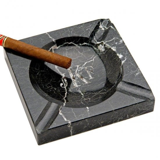 Indoor/Outdoor Monogrammed Marble Ashtray