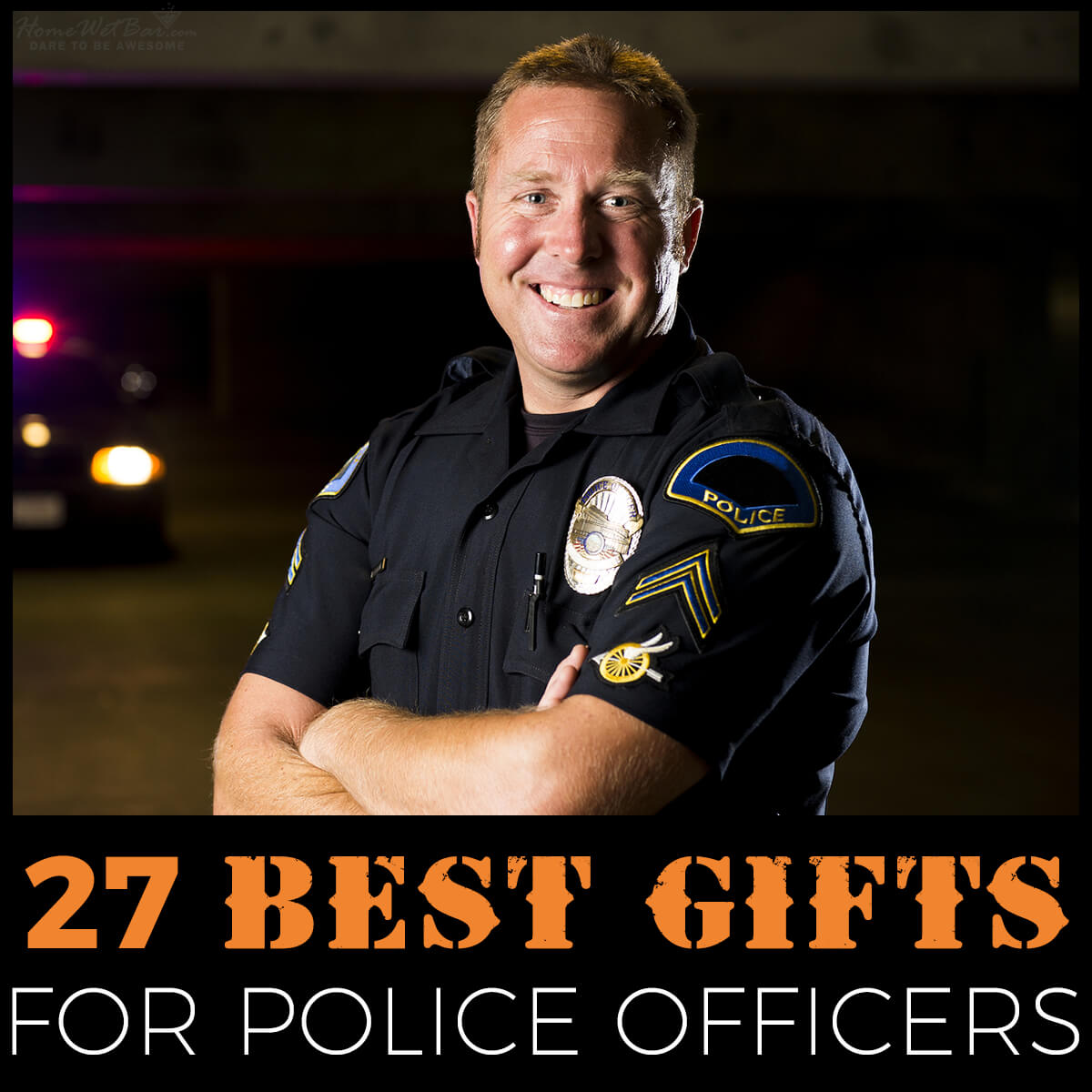 /'This is what an Awesome Police Officer looks like/' Cop Birthday Funny T-shirt