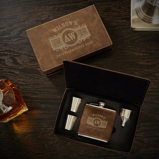 Stylish Flask Sets Make Stylish Anniversary Gift Ideas For Him
