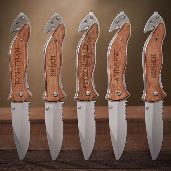 Personalized Tactical Hunting Knives - Set of 5 Gifts for Police Officers