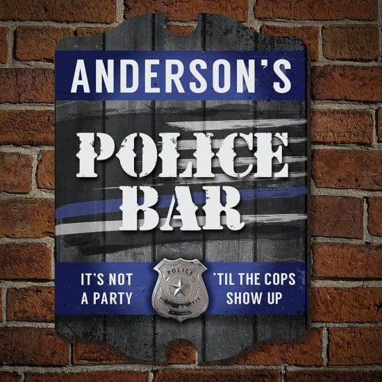 Personalized Police Bar Sign