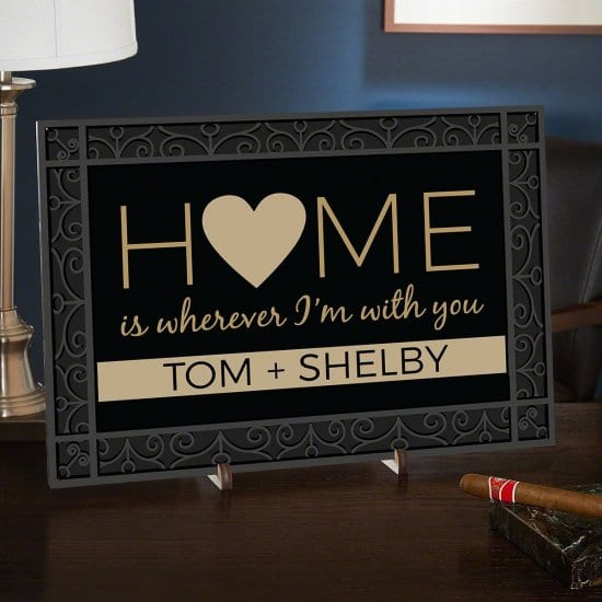 Home Sign Wedding Gift for Parents