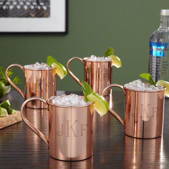 Unique Copper Moscow Mule Gift Set for Parents