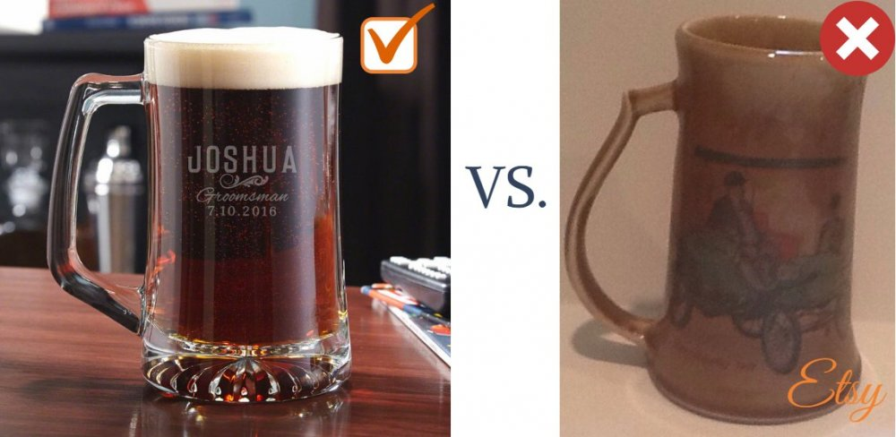 One-of-a-Kind Groomsmen Beer Mug