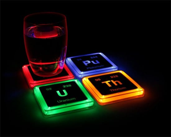 Glowing Element Coasters