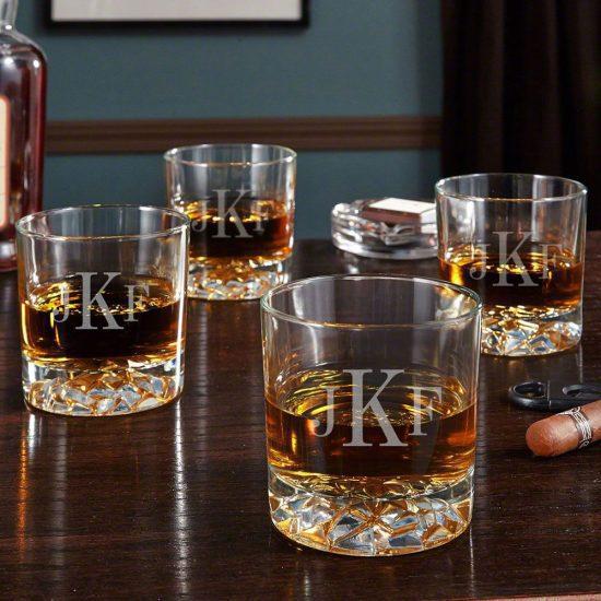 Monogrammed Whiskey Glasses