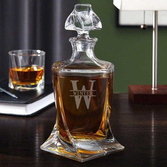 Engraved Twist Decanter