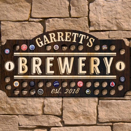 Beer Cap Brewery Sign
