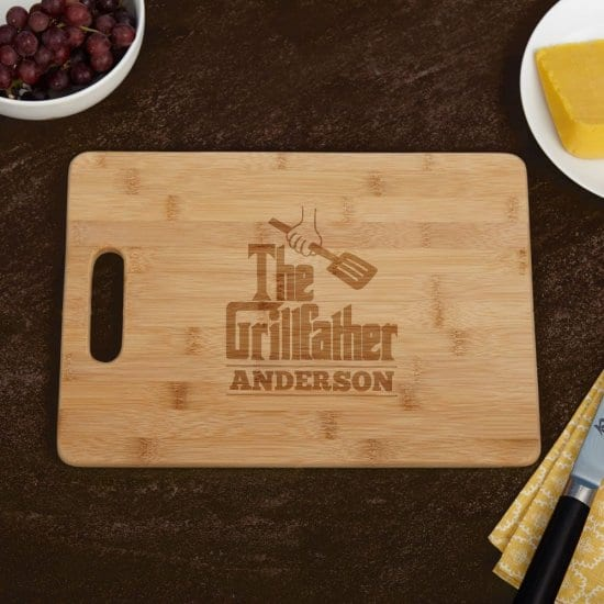 The Grillfather Personalized Cutting Board for Dad