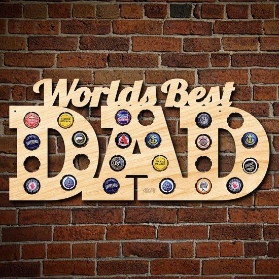 World's Best Dad Beer Bottle Cap Sign
