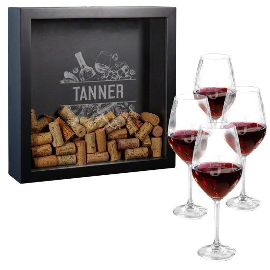 Wine Glass Shadow Box Set