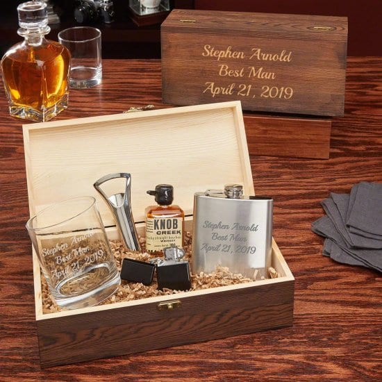 Personalized Whiskey Gift Set for Boyfriend