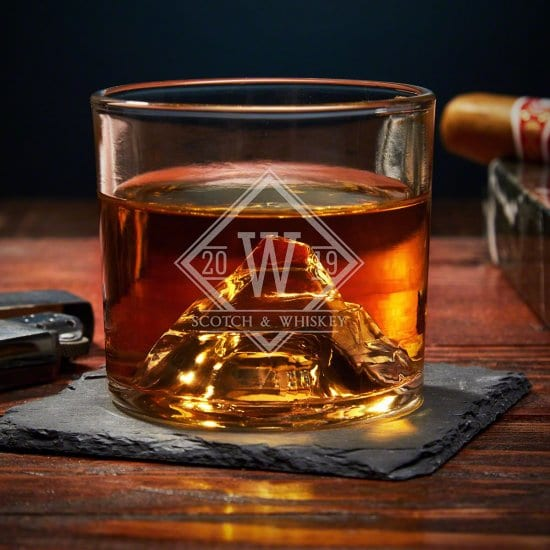 Eye-Catching Matterhorn Whiskey Glass