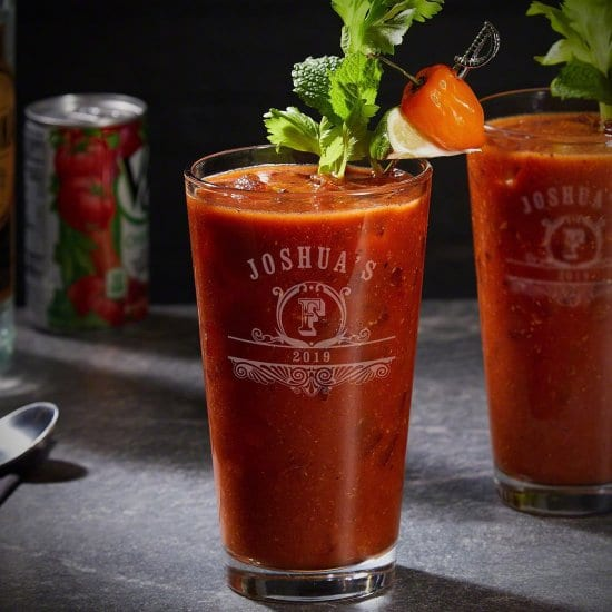 Engraved Bloody Mary Glasses