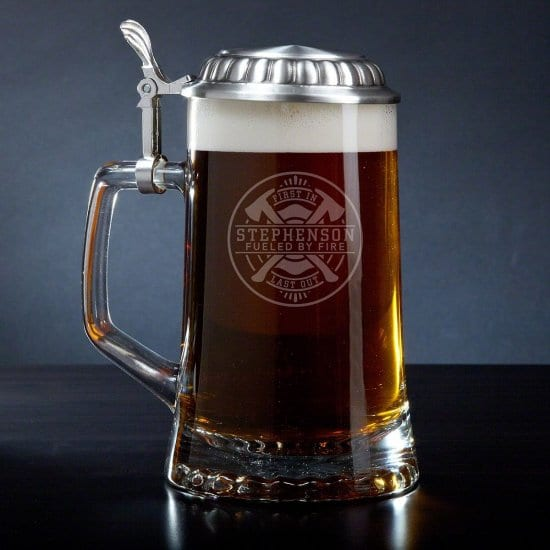 Personalized Beer Stein Gift for Firefighters