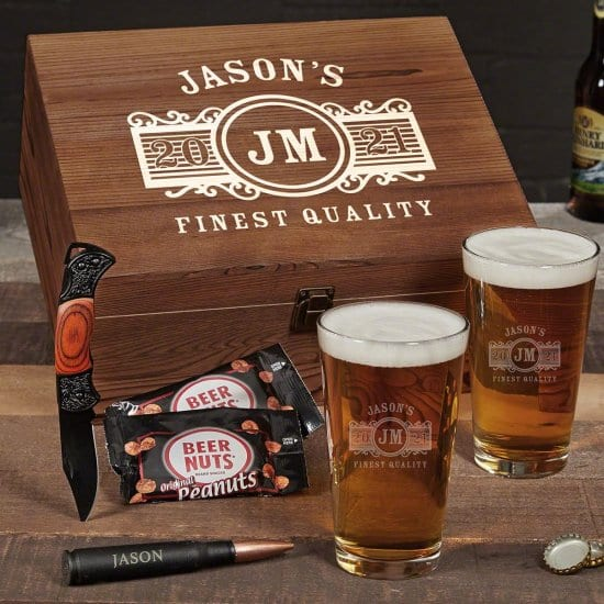 Custom Beer Box Set 5 Year Anniversary Gift for Him