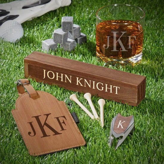 Monogrammed Golf Gift Set Best Gift for Brother
