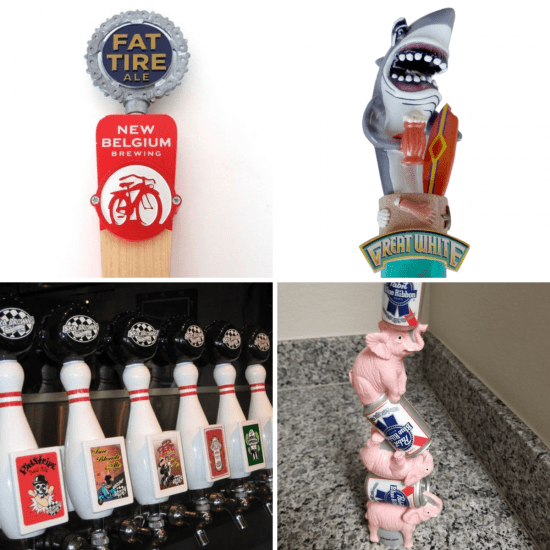 Tap Handles from Your Favorite Brewery