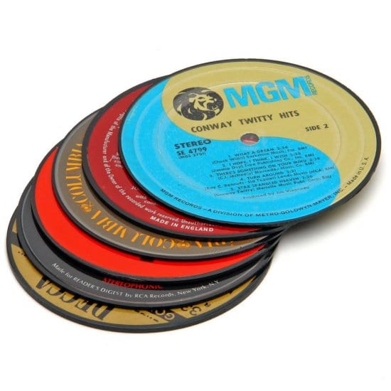 Classic Vinyl Coasters