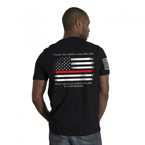 Thin Red Line Graphic Tee - Appreciation Gift for Firefighters