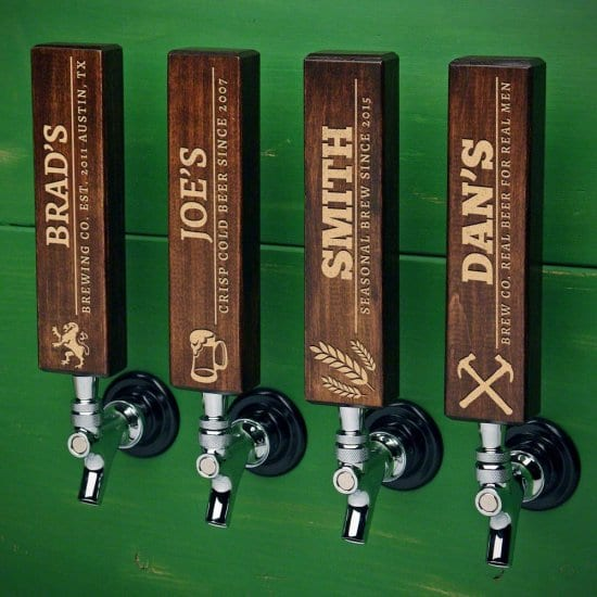 Dark Walnut Custom Beer Tap Handles