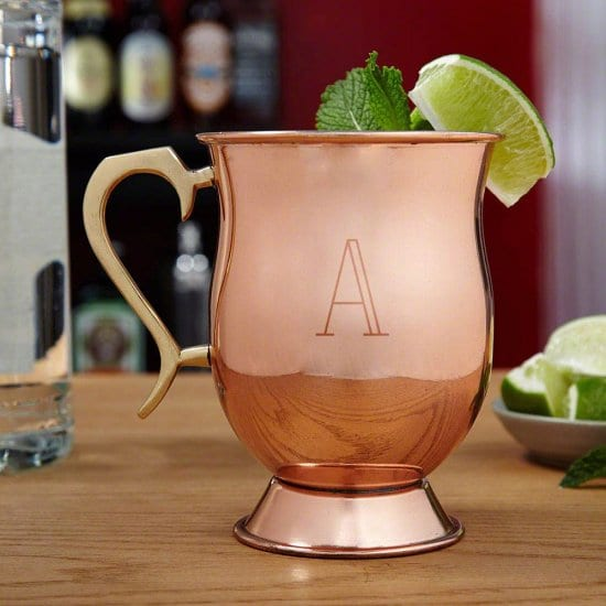 Engraved Copper Mug for Moscow Mules