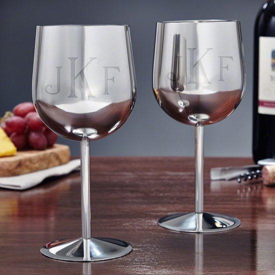 Stainless Steel Wine Glasses