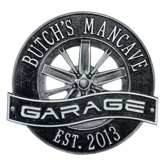 Metal Garage Sign for Car Enthusiasts and Mechanics