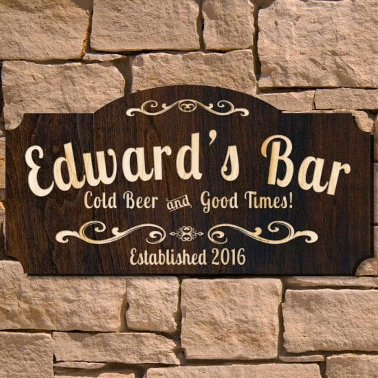 Custom Wooden Bar Sign