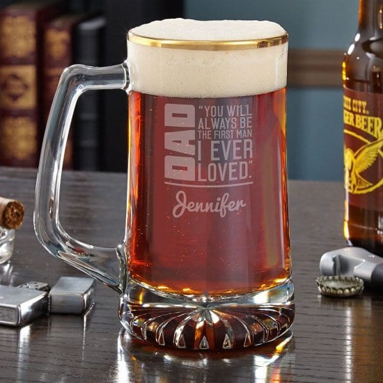 Personalized Dad Beer Mug From Daughter