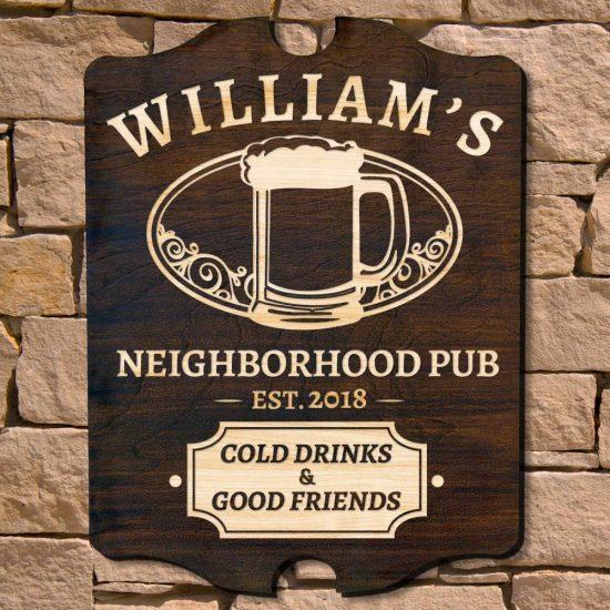 Custom Wood Bar Sign