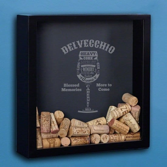 Cork Shadow Box for Fathers