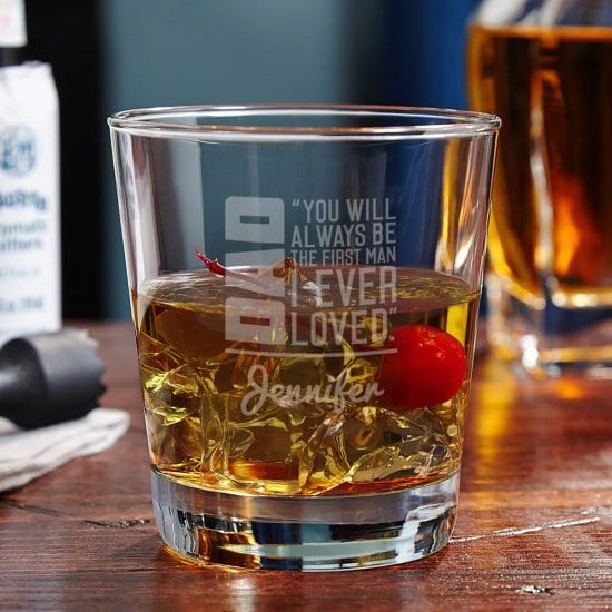 Custom Cocktail Glass for Dad
