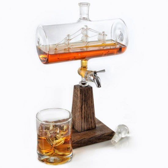 Ship in a Bottle Decanter for Dad