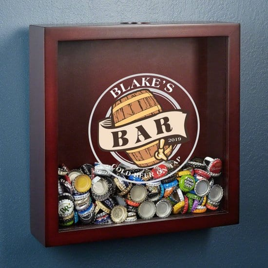 Personalized Shadow Box for Bottle Caps