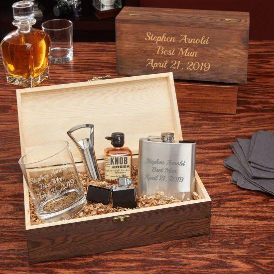 Personalized Liquor Box Set for Men