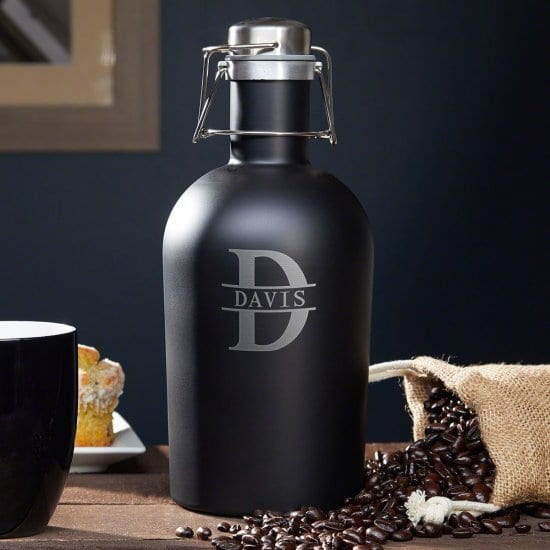 Black Coffee Growler for Dad