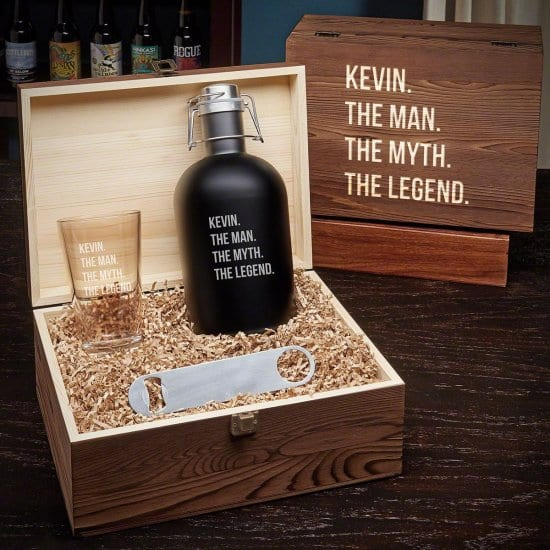 Manly Personalized Beer Box Set