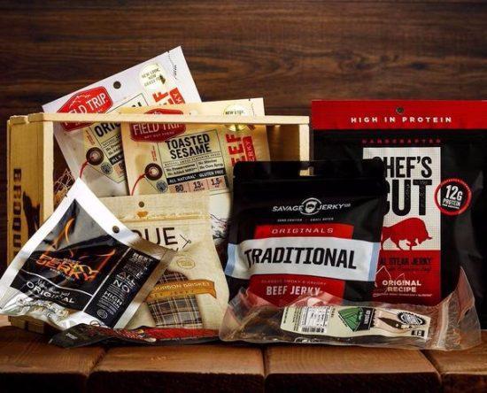 Beef Jerky Gift Crate for Men
