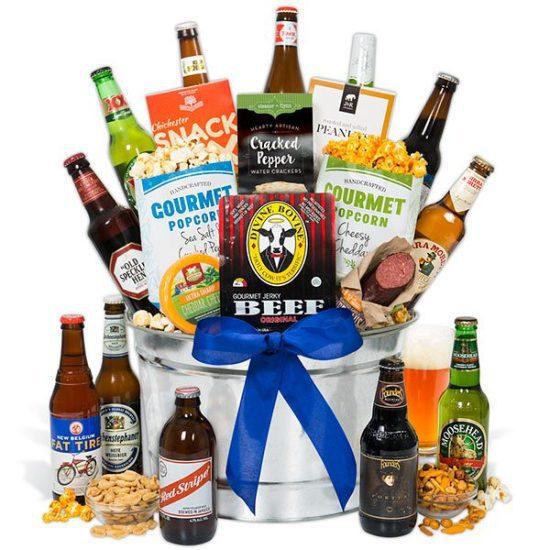 Beer Bucket Gift Basket