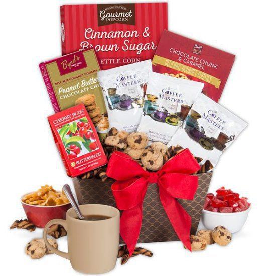 Coffee and Snacks Gift Basket