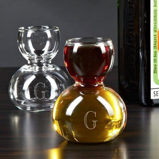 Jager Bomb Shot Glasses With Initial