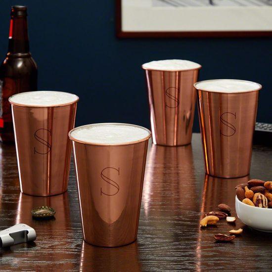Copper Pint Glass Set