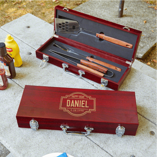 Personalized Grilling Tools Gift Baskets for Men