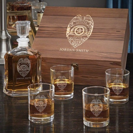 Whiskey Gift Set for Police Officers and Law Enforcement