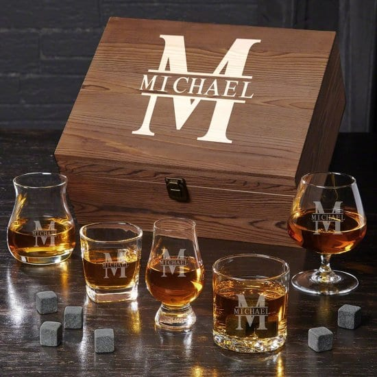 Personalized Set of Whiskey Glasses